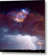 Lightning Thunderstorm Over Dacono Metal Print