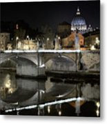 Tiber's Reflection Of Religion Metal Print
