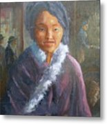 Tibetan Fur Coat Metal Print