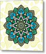 Tibetan Mandala Seamless Pattern Metal Print