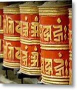 Tibetan Prayer Wheel  Metal Print