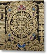 Tibetan Thangka - Tibetan Astrological Diagram Metal Print