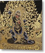 Tibetan Thangka - Vajrapani - Protector And Guide Of Gautama Buddha Metal Print