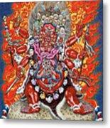 Tibetan Thangka  - Wrathful Deity Hayagriva Metal Print