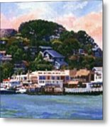 Tiburon California Waterfront Metal Print