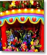 Ticket Booth Of Flowers Metal Print