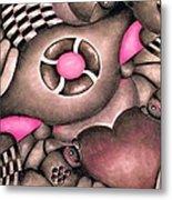 Tickled Pink Metal Print