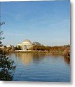 Tidal Basin And Jefferson Memorial Metal Print by Megan Cohen