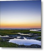 Tidal Pool Sunset Metal Print