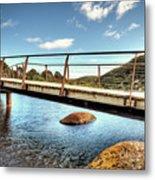 Tidal River Bridge Metal Print