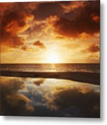 Tidepool At Sunset Metal Print