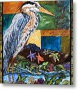 Tidepool Heron Metal Print