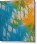 Tie Dye In Yellow Aqua And Green Metal Print