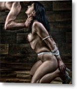 Tied Nude Submission And Domination - Fine Art Of Bondage Metal Print by Rod Meier