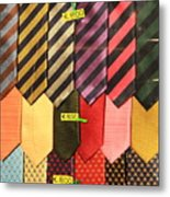 Ties In Shop Window In Venice Metal Print