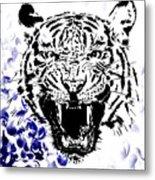 Tiger And Paisley Metal Print