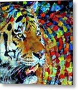 Tiger Big Colors Metal Print