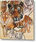 Tiger Haven Metal Print