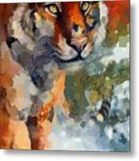 Tiger Hotty Totty Style Metal Print