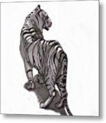 Tiger Pose Metal Print