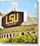 Tiger Stadium - Digital Painting Metal Print