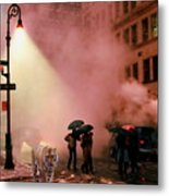 Tiger Suanters The Sloggy Evening Urban Landscape Metal Print