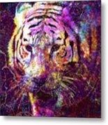 Tiger Surreal Painting Predator  Metal Print