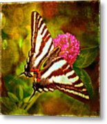 Zebra Swallowtail Butterfly - Digital Paint 3 Metal Print