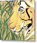 Tiger Traveler - Www.jennifer-d-art.com Metal Print