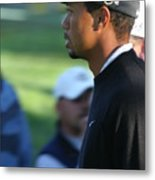 Tiger Woods IIi Metal Print by Chuck Kuhn
