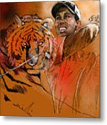 Tiger Woods Or Earn Your Stripes Metal Print