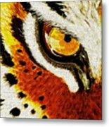 Tiger's Eye Metal Print