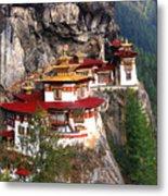 Tigers Nest Bhutan Metal Print