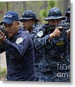 Tigres Commandos Conduct Bounding Metal Print