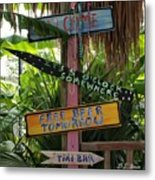 Tiki Bar Sign Metal Print