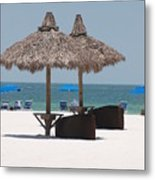 Tiki On The Gulf Metal Print