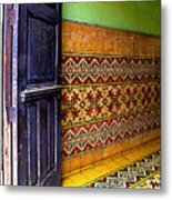Tiled Foyer Metal Print