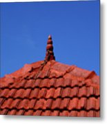Tiled Roof Near Ooty, India Metal Print