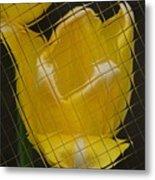 Tiled Yellow Tulip Metal Print