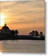 Tilghman Island Marina At Sunrise Metal Print