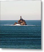 Tillamook Rock Lighthouse On A Calm Day Metal Print