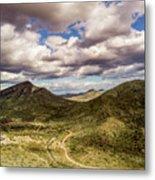 Tilt-shift Mountain Road Metal Print