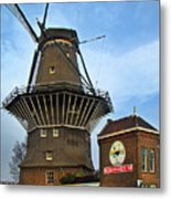 Tilting At Windmills In Amsterdam Metal Print