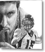 Tim Tebow Metal Print by Bobby Shaw