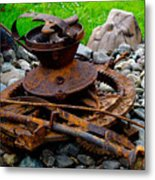 Timber Gears Built The West Metal Print