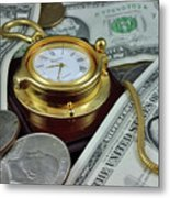 Time And Money Metal Print