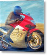 Time And Space Equation - Triumph 600tt Metal Print