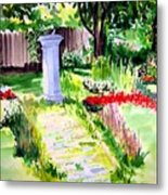 Time In A Garden Metal Print