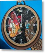 Time Is Running Out And I Am Running Scared Metal Print