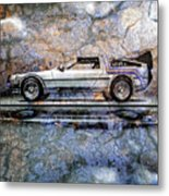 Time Machine Or The Retrofitted Delorean Dmc-12 Metal Print